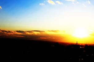 夕日が沈む時の写真素材 [FYI00193728]