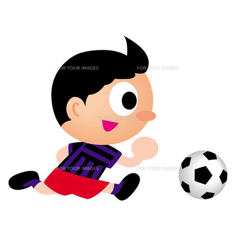 サッカー少年の写真素材 [FYI00193945]