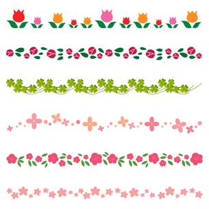 花のラインの写真素材 [FYI00193980]