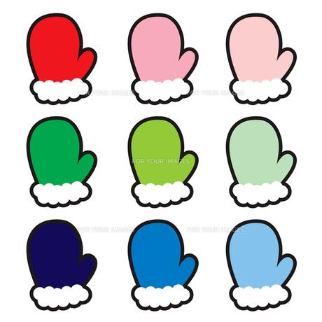 可愛い手袋の写真素材 [FYI00194064]
