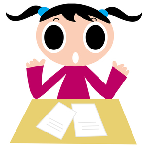勉強をする女の子の写真素材 [FYI00194121]
