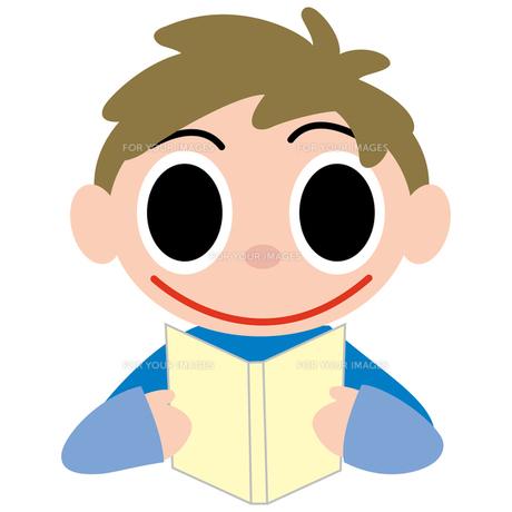 読書をする男の子の写真素材 [FYI00194151]