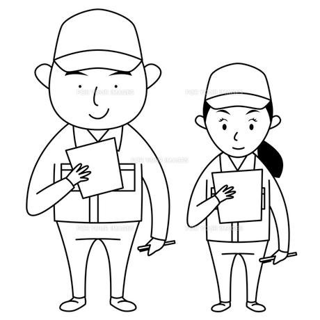 作業服を着た男女の写真素材 [FYI00194160]