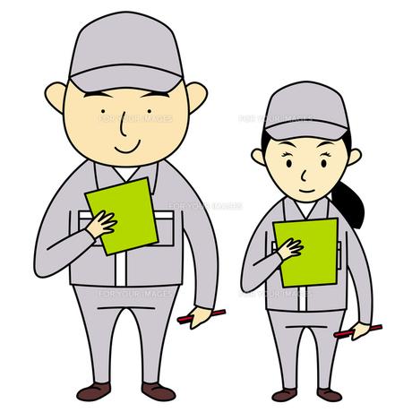 作業服を着た男女の写真素材 [FYI00194163]