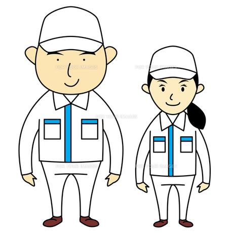 作業服を着た男女の写真素材 [FYI00194170]