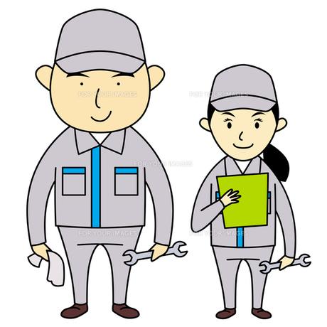 作業服を着た男女の写真素材 [FYI00194173]