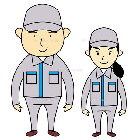 作業服を着た男女の写真素材 [FYI00194177]