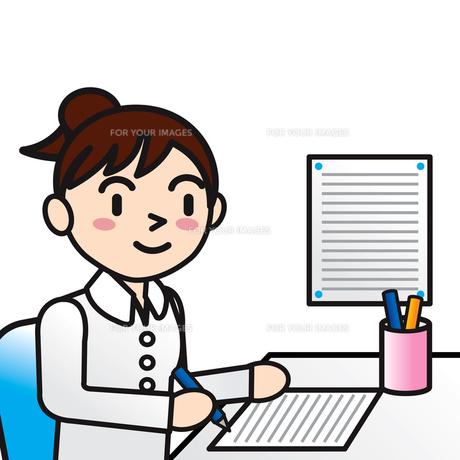 女性事務員の写真素材 [FYI00194180]