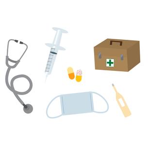 医療関係小道具イラストの写真素材 [FYI00194182]