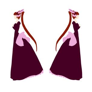 双子ドレスの写真素材 [FYI00194550]