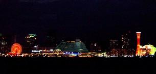 神戸港夜景全景の写真素材 [FYI00194690]