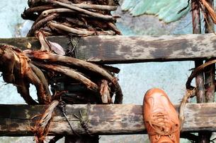かずら橋の上からの写真素材 [FYI00194800]