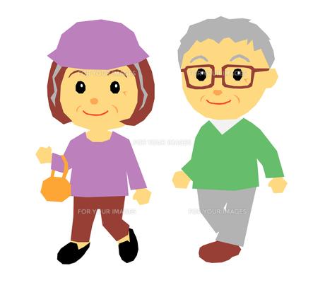 老夫婦の散歩の素材 [FYI00195364]