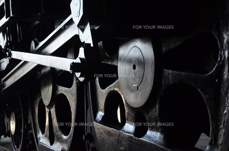 蒸気気機関車の素材 [FYI00195370]