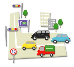 車と道路の写真素材 [FYI00195378]