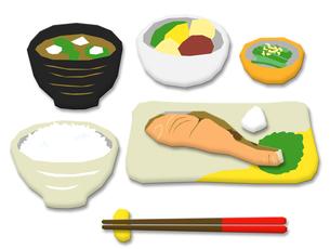焼鮭 和食の写真素材 [FYI00195383]