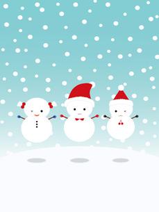 クリスマス ジャンプする雪だるまの写真素材 [FYI00195557]