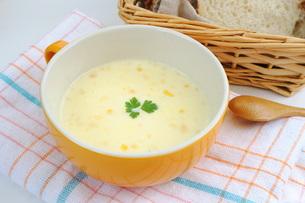 コーンスープの写真素材 [FYI00197376]