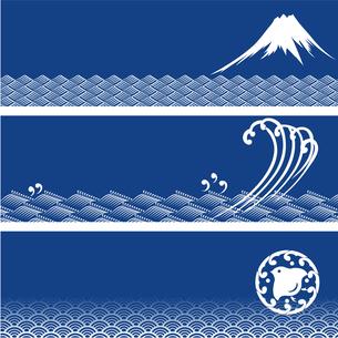 日本の伝統模様バナーの写真素材 [FYI00197720]