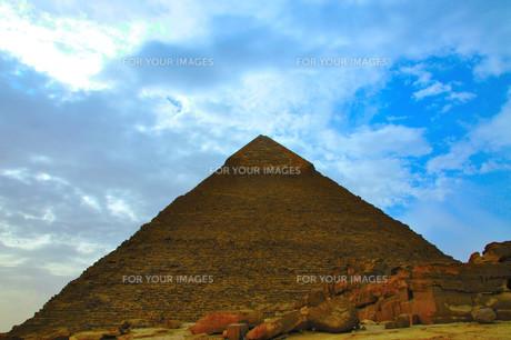 カフラー王のピラミッドの写真素材 [FYI00197756]