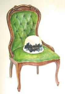 椅子と帽子の写真素材 [FYI00197790]