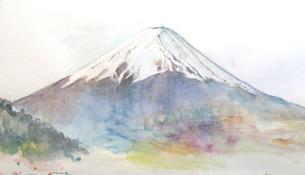 富士山のスケッチの写真素材 [FYI00197826]