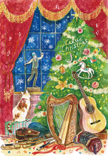 ケルティック・クリスマスの写真素材 [FYI00197867]