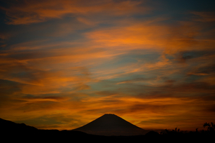 Sunset with Mt FUJI2の写真素材 [FYI00198347]