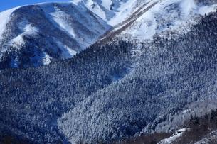 乗鞍岳中腹の雪景色の写真素材 [FYI00198443]