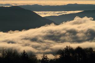 朝日に染まる雲海の写真素材 [FYI00198481]