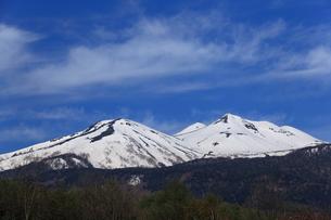 残雪の乗鞍岳の写真素材 [FYI00198488]
