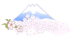 富士山と桜の写真素材 [FYI00198629]