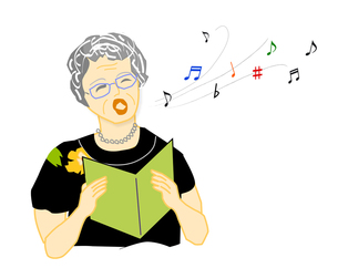 歌う婦人の写真素材 [FYI00198665]