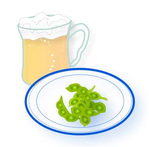 ビールと枝豆の写真素材 [FYI00198689]