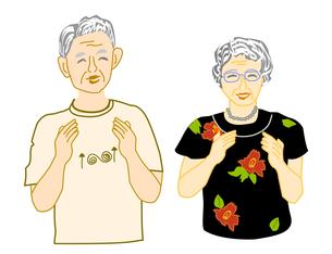 拍手する夫婦の写真素材 [FYI00198692]