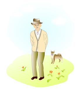 おじいさんと犬の写真素材 [FYI00198707]