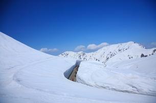 雪の大谷の写真素材 [FYI00198738]