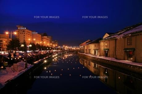 小樽運河の写真素材 [FYI00198742]