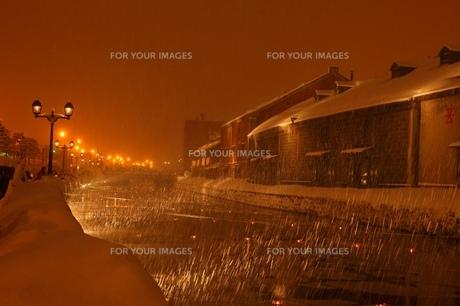 小樽運河の写真素材 [FYI00198763]