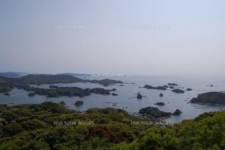 九十九島の島々の写真素材 [FYI00198784]