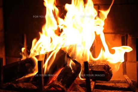 暖炉の写真素材 [FYI00199994]
