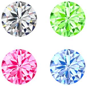 4色のダイヤの素材 [FYI00200036]