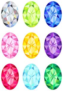 オーバルカットの宝石の写真素材 [FYI00200162]