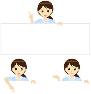 上から説明するOLの写真素材 [FYI00200171]
