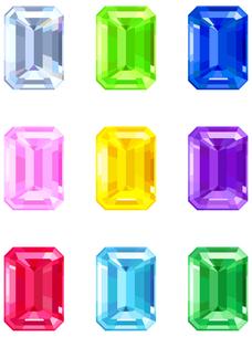 スクエアカットの宝石の写真素材 [FYI00200172]