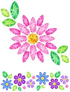 宝石でできた花の写真素材 [FYI00200181]