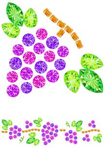 宝石でできたぶどうの写真素材 [FYI00200186]