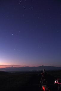 久住高原 夏のオリオン座の写真素材 [FYI00200317]
