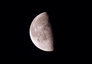 下弦の月 十六夜の写真素材 [FYI00200383]