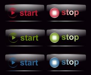 スタート&ストップ・ボタンの写真素材 [FYI00200466]